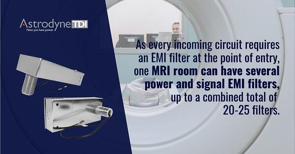 MRI Rooms can have several power and signal EMI filters.