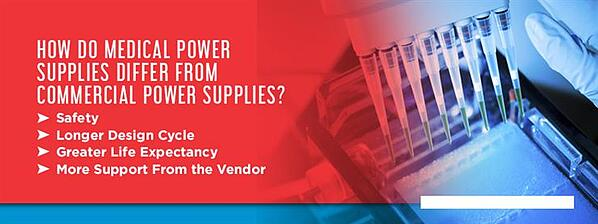 How Do Medical Power Supplies Differ from Commercial Power Supplies