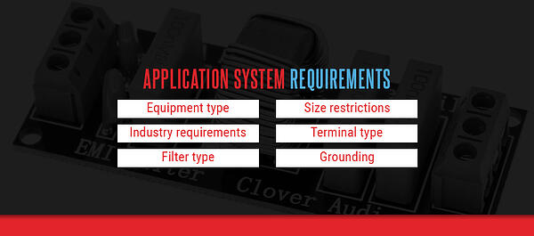 Application system requirements