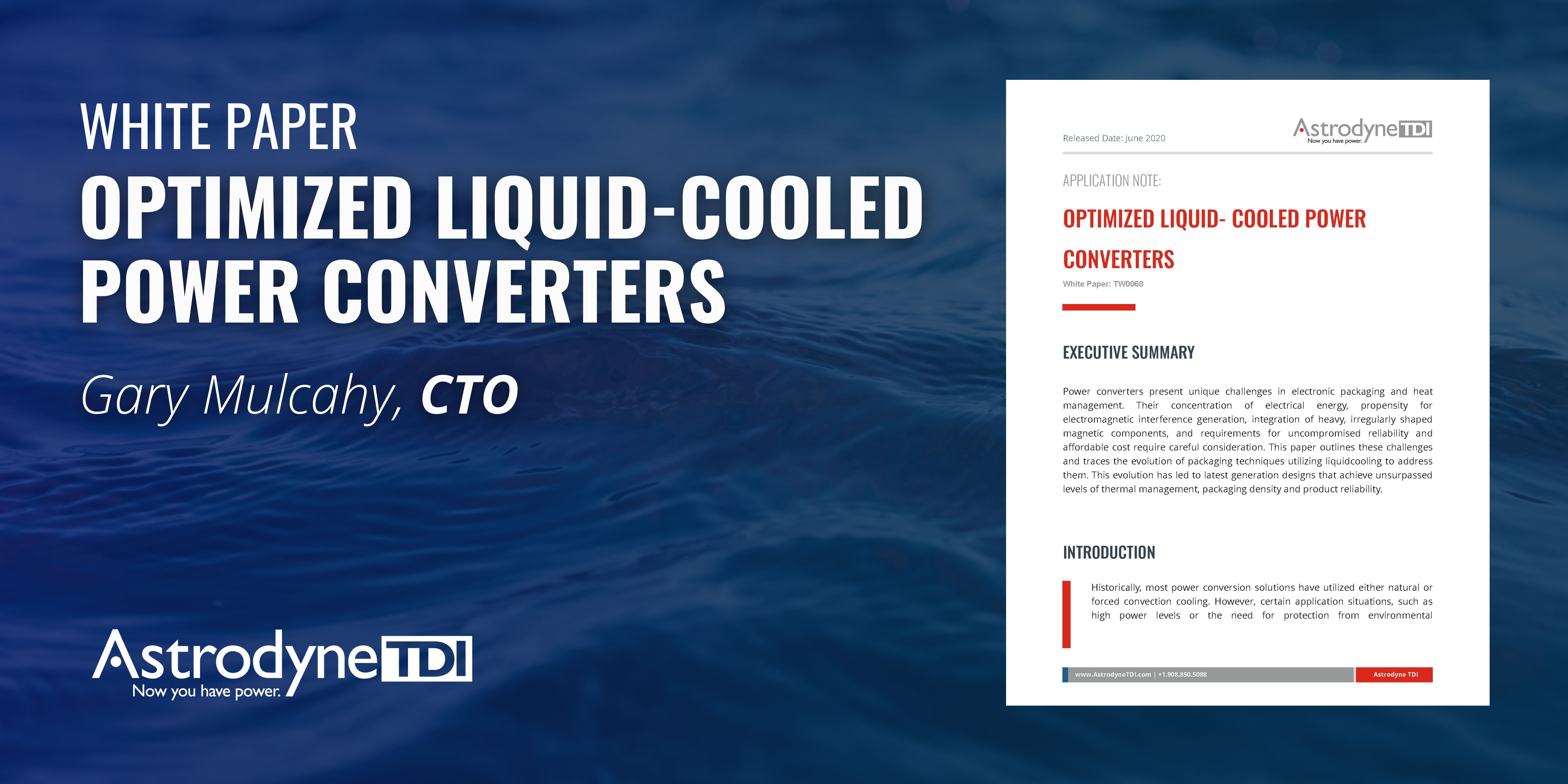 Optimized Liquid-Cooled Power Converters